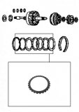 STEEL PLATE / HIGH CLUTCH 92x2,20x28T
