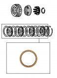 FRICTION PLATE <br> High Clutch