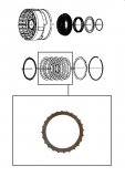 FRICTION PLATE <br> Second Clutch