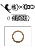FRICTION PLATE <br> Direct Clutch <br> Grooved