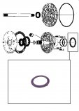 THRUST WASHER <br> Front Pump Stator <br> Purple