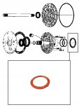 THRUST WASHER <br> Front Pump Stator <br> Orange