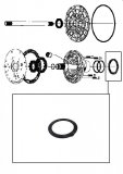 THRUST WASHER <br> Front Pump Stator <br> Black