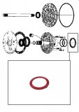THRUST WASHER <br> Front Pump Stator <br> Red