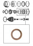 WAVED FRICTION / K1  CLUTCH 119x2,14x40T