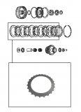 STEEL PLATE / FOURTH CLUTCH 93x2,40x24T