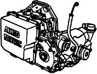 AXOD<br>4-Speed Automatic Transmission<br>FWD, Hydraulic & Eletronic Control<br>Manufacturer: Ford 1980-1993
