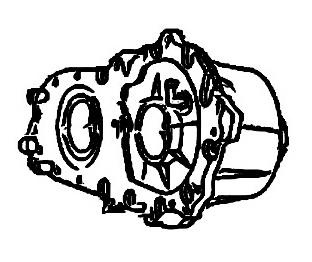 BW4473<br>Transfer Case, Full time<br>Manufacturer: BorgWarner 2002-up